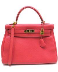 b134d5d0e3 Lyst - Hermès Pre-owned Kelly Mini Leather Mini Bag in Green