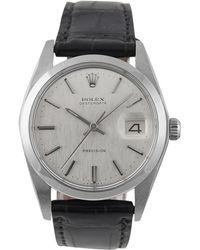 Rolex - Vintage Oysterdate 34mm Silver Steel Watches - Lyst