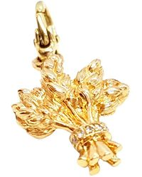 Chanel - Pre-owned Vintage Gold Yellow Gold Pendants - Lyst