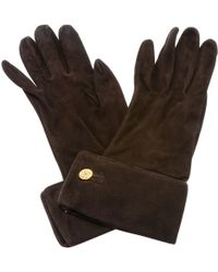 Chanel - Pre-owned Vintage Brown Suede Gloves - Lyst