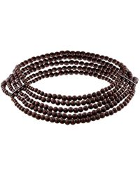 Dior - Pre-owned Brown Wood Necklaces - Lyst