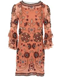 Matthew Williamson Orange Silk Dress