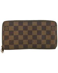 Louis Vuitton - Zippy Brown Cloth Wallets - Lyst
