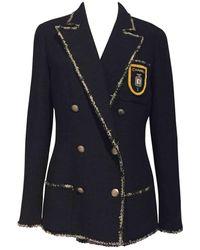Chanel Vest en Laine Marine - Noir