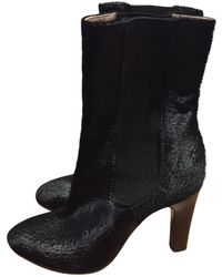 Chanel - Pre-owned Pony-style Calfskin Ankle Boots - Lyst