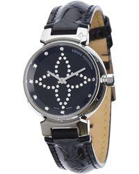 Louis Vuitton - Tambour Silver Steel Watches - Lyst