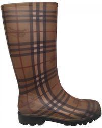 Burberry - Khaki Rubber Boots - Lyst