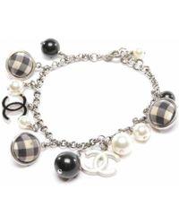 Chanel - Pre-owned Silver Pearls Bracelets - Lyst