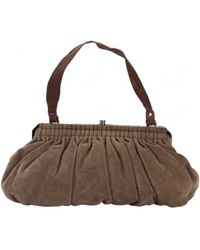 Lanvin - Pre-owned Brown Leather Handbag - Lyst