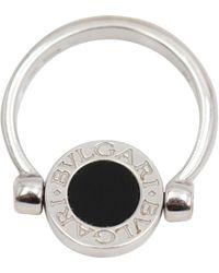 BVLGARI - Silver White Gold Ring - Lyst