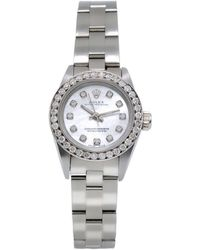 Rolex - Lady Oyster Perpetual 26mm White Steel - Lyst