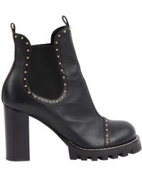 087bd89738a8 Louis Vuitton Pre-owned Matchmake Black Leather Ankle Boots in Black ...