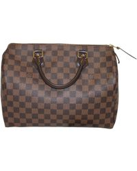 Louis Vuitton - Pre-owned Speedy Leather Bowling Bag - Lyst
