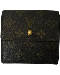 Louis Vuitton - Brown Cloth Wallets - Lyst