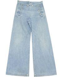 Jean Paul Gaultier - Vintage Blue Cotton Jeans - Lyst
