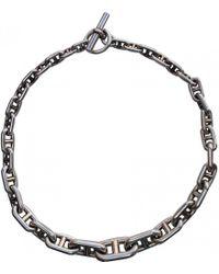 Hermès - Pre-owned Vintage Chaîne D'ancre Silver Silver Necklaces - Lyst