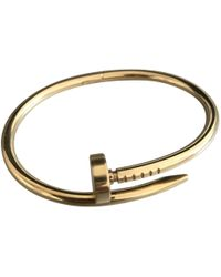 Cartier - Pre-owned Juste Un Clou Yellow Gold Bracelet - Lyst