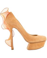 311131142a23 Lyst - Kate Spade Ibarra Block Heel Sandals - Light Camel Tomato Red ...