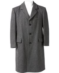 Dior - Pre-owned Grey Wool Coats - Lyst