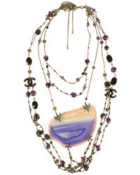 Chanel - Multicolour Metal Necklace - Lyst
