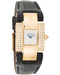 Chaumet - Pre-owned Vintage Mihewi Yellow Yellow Gold Watches - Lyst