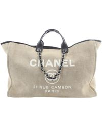 Chanel Deauville Beige Cloth