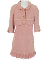 Chanel - Pre-owned Silk Mini Dress - Lyst