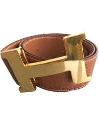 Hermès | Boucle H Leather Belt | Lyst