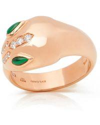 BVLGARI - Serpenti Pink Pink Gold Ring - Lyst
