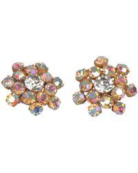 Chanel - Vintage Multicolour Metal Earrings - Lyst