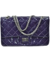 Chanel - Pre-owned 2.55 Patent Leather Handbag - Lyst
