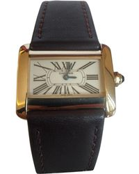 Cartier - Divan Yellow Gold Watch - Lyst