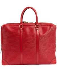 Louis Vuitton - Pre-owned Vintage Voyage Red Leather Bags - Lyst