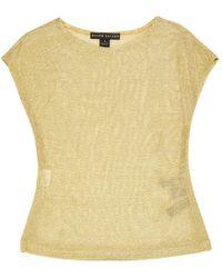 Ralph Lauren Collection - Gold Viscose Top - Lyst
