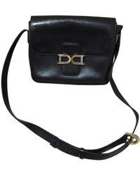 Delvaux - Vintage Black Leather Handbag - Lyst