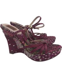 Missoni - Pre-owned Leather Heels - Lyst