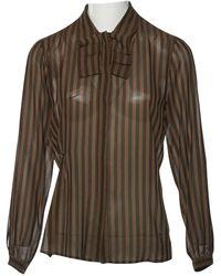 Dior - Pre-owned Vintage Brown Silk Tops - Lyst