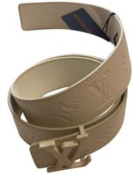 ff6fe16541e8 Louis Vuitton - Pre-owned White Leather Belts - Lyst