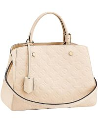 6ff2b193cc7d Louis Vuitton Pre-owned Leather Handbag in White - Lyst