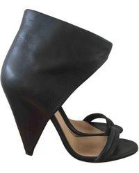 b1876d3e7a1 Lyst - Alexander Wang Rudy Leather Platform Sandals in Black
