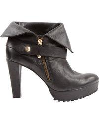 Diane von Furstenberg Black Leather