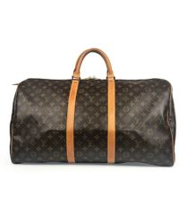 474fba67479 Louis Vuitton - Pre-owned Vintage Keepall Brown Cloth Bags - Lyst