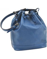 Louis Vuitton - Pre-owned Noé Blue Leather Handbags - Lyst