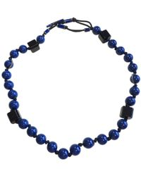 Lanvin - Blue Plastic Necklace - Lyst