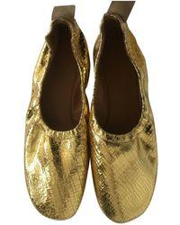 335431cceb4 Céline - Soft Ballerina Leather Ballet Flats - Lyst