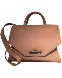 Givenchy - Obsedia Tote Beige Leather Handbag - Lyst