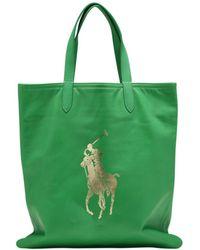 Polo Ralph Lauren - Leather Shopping Bag - Lyst