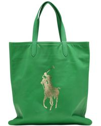 Polo Ralph Lauren - Pre-owned Green Leather Handbags - Lyst