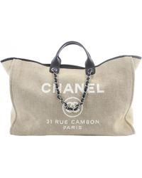 Chanel - Deauville Leinen Reisetaschen - Lyst