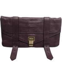 Proenza Schouler - Ps1 Purple Leather Clutch Bag - Lyst